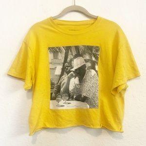 Reasonable Doubt Jay-z Biggie Cropped T-Shirt Sz M